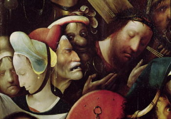 The Carrying of the Cross detail of Christ and St Veronica | Hieronymus Bosch | oil painting