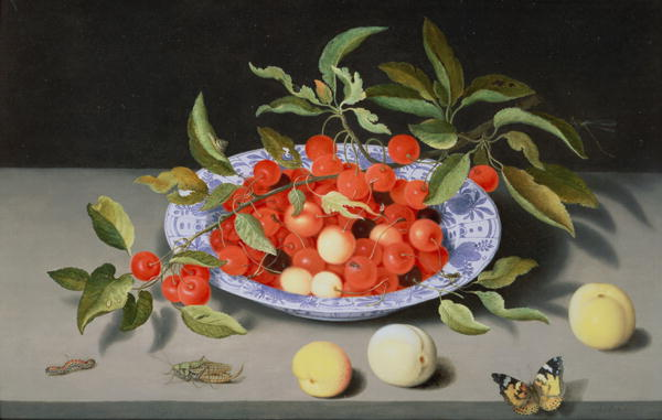 Still Life of Cherries and Peaches | Balthasar van der Ast | oil painting