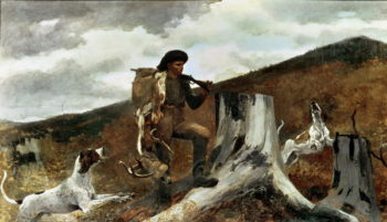 The Hunter and his Dogs 1891 | Winslow Homer | oil painting