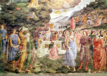The Adoration of the Golden Calf from the Sistine Chapel   Cosimo Rosselli   oil painting