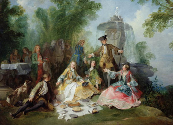 The Hunting Party Meal 1737 | Nicolas Lancret | oil painting