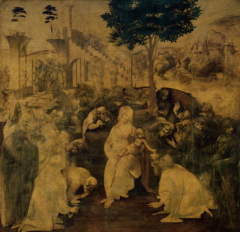 The Adoration of the Magi 1481 2 | Leonardo da Vinci | oil painting