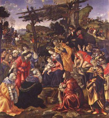The Adoration of the Magi 1496 | Filippino Lippi | oil painting
