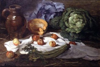 Still Life with Cabbages | Armand Desire Gautier | oil painting