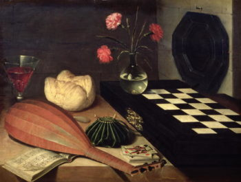Still Life with Chess board 1630 | Lubin Baugin | oil painting
