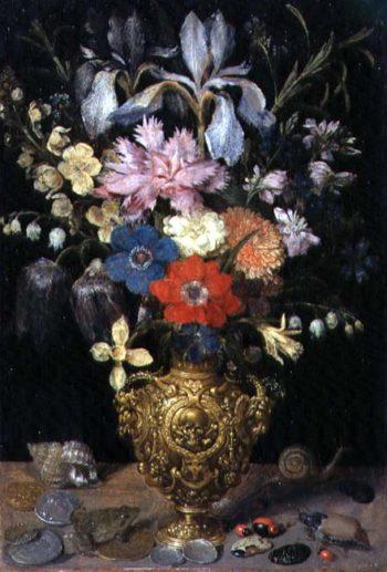Still Life with Flowers 1604 | Georg Flegel | oil painting