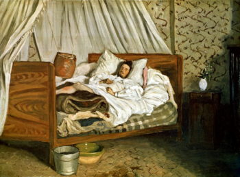The Improvised Ambulance The Painter Monet Wounded at Chailly en Biere 1865 | Jean Frederic Bazille | oil painting