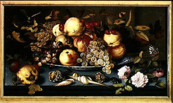 Still Life with Fruit Flowers and Seafood | Balthasar van der Ast | oil painting