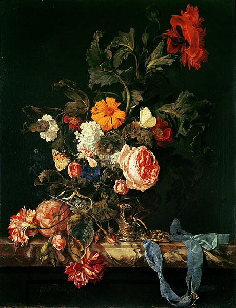 Still Life with Poppies and Roses | Willem van Aelst | oil painting