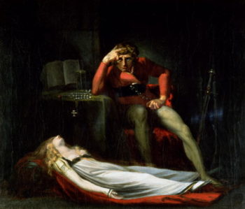 The Italian Court or Ezzelier Count of Ravenna musing over the body of Meduna 1780 | Henry Fuseli | oil painting