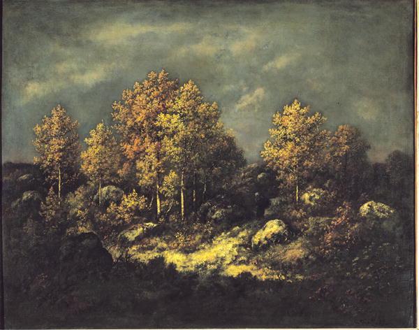 The Jean de Paris Heights in the Forest of Fontainebleau 1867   Narcisse Virgile Diaz de la Pena   oil painting