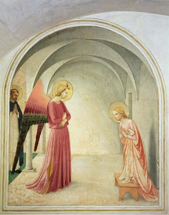 The Annunciation 1442 | Fra Angelico | oil painting