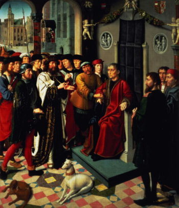 The Judgement of Cambyses 1498 | Gerard David | oil painting