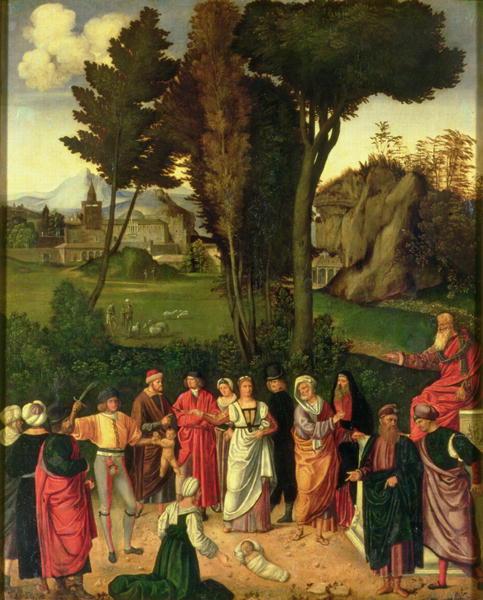 The Judgement of Solomon 1505 | Giorgione | oil painting