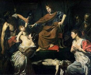 The Judgement of Solomon | Valentin de Boulogne | oil painting