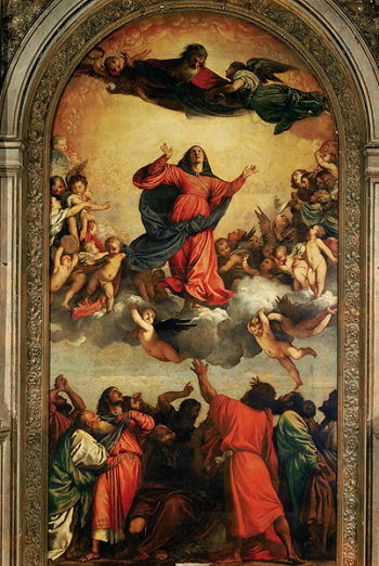 The Assumption of the Virgin 1516 18 | Titian | oil painting