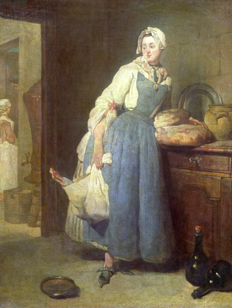 The Kitchen Maid With Provisions 1739 Painting Jean Baptiste Simeon Chardin Oil Paintings