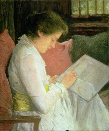 The Lace Maker 1915 | Julian Alden Weir | oil painting