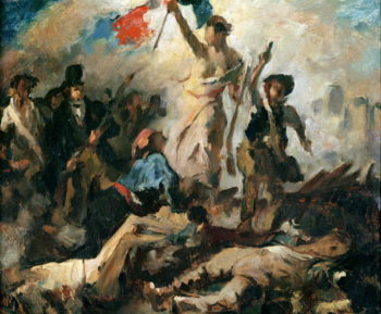 Study for Liberty Leading the People | Delacroix | oil painting