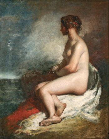 Study of a Seated Nude | William Etty | oil painting