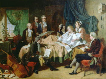 The Last Hours of Mozart   Henry Nelson O'Neil   oil painting