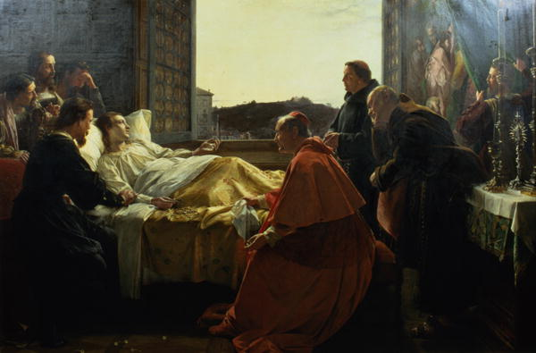 The Last Moments of Raphael | Henry Nelson O'Neil | oil painting