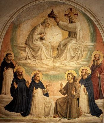 The Coronation of the Virgin with Saints Thomas Benedict Dominic Francis Peter the Martyr and Paul 1442 | Fra Angelico | oil painting