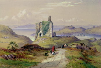 Tarbert Castle Loch Fyne | Thomas Miles Richardson | oil painting