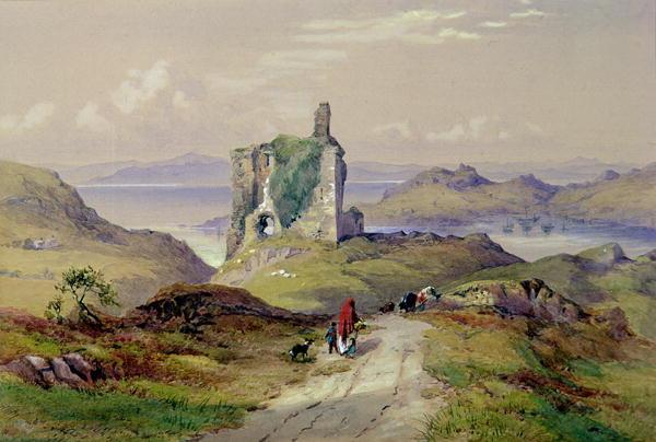 Tarbert Castle Loch Fyne | Thomas Miles Richardson | oil painting