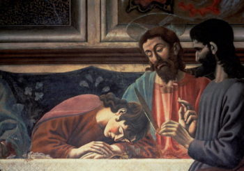 The Last Supper Christ and St John 1447 | Andrea del Castagno | oil painting