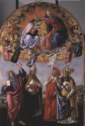 The Coronation of the Virgin | Sandro Botticelli | oil painting
