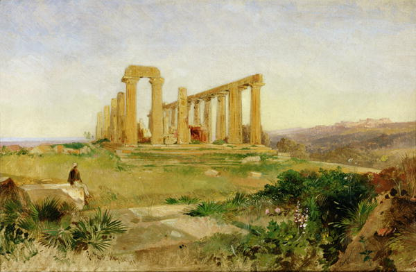 Temple of Agrigento | Edward Lear | oil painting