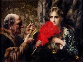 Temptation 1914 | Thomas Benjamin Kennington | oil painting