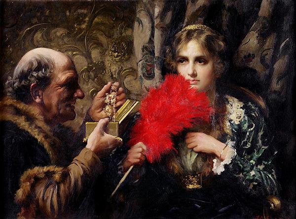 Temptation 1914   Thomas Benjamin Kennington   oil painting