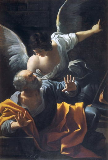 The Liberation of St Peter   Sisto Badalocchio   oil painting