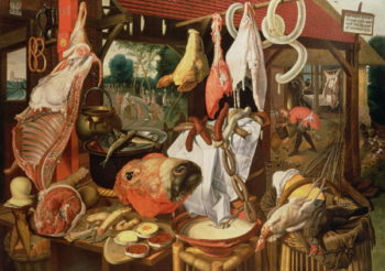 The Meat Stall 1568 | Pieter Aertsen | oil painting