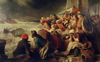 The Life Boat Going to the Rescue 1861 | Thomas Brooks | oil painting