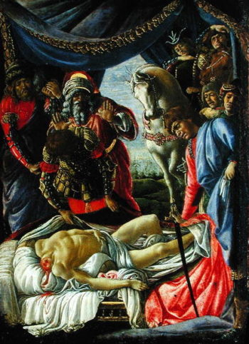 The Discovery of the Body of Holofernes | Sandro Botticelli | oil painting