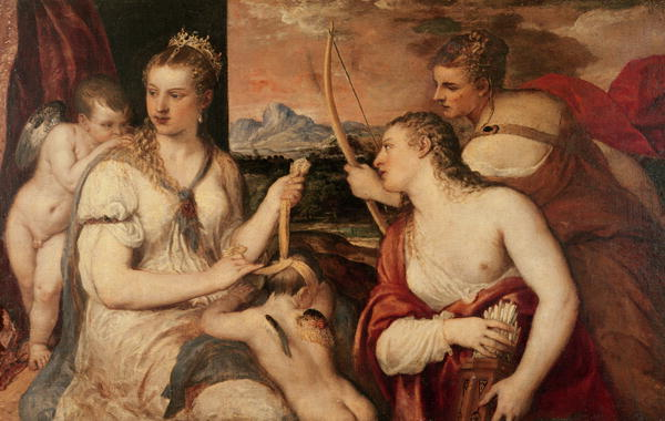 The Education of Cupid 1565 | Titian | oil painting