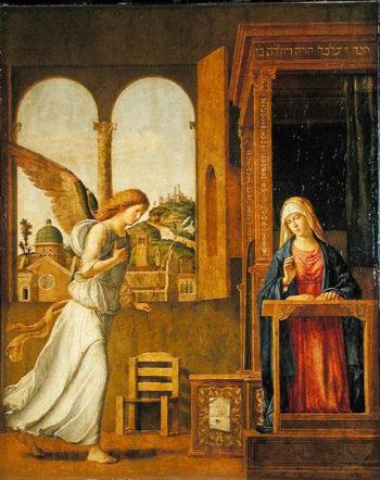The Annunciation 1495 | Giovanni Battista Cima da Conegliano | oil painting