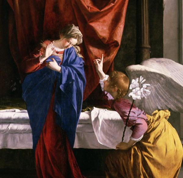 The Annunciation 1623   Orazio Gentileschi   oil painting