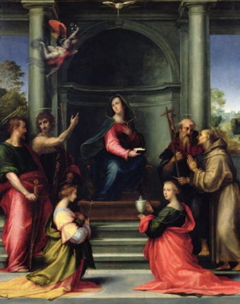 The Annunciation with Saints 1515 | Fra Bartolommeo | oil painting