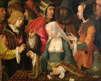 The Fortune Teller | Lucas van Leyden | oil painting