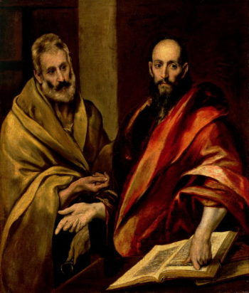 The Apostles St Peter and St Paul | El Greco | oil painting