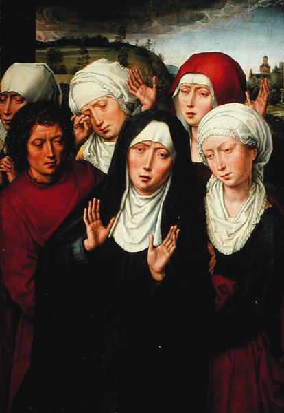 The Holy Women right hand panel of the Deposition Diptych 1492 94   Hans Memling   oil painting