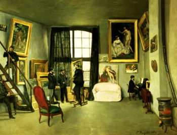 The Artist's Studio 1870 | Jean Frederic Bazille | oil painting