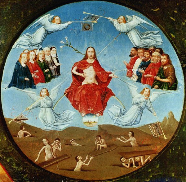The Judgement detail from the Table of the Seven Deadly Sins and the Four Last Things 1480   Hieronymus Bosch   oil painting