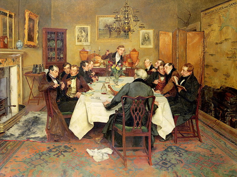 The Bagman's Toast 'Sweethearts and Wives' | Walter Dendy Sadler | oil painting