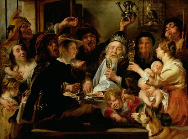 The Bean King | Jacob Jordaens | oil painting