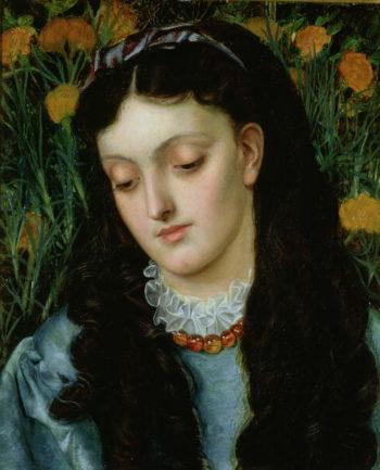 The Beautiful Wallflower 1870 | Emma Sandys | oil painting